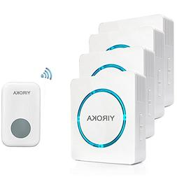 Anpress Wireless Doorbell with 260m Range, 48 Chimes, 4 Volu