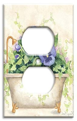Art Plates - Bath Tub Switch Plate - Outlet Cover