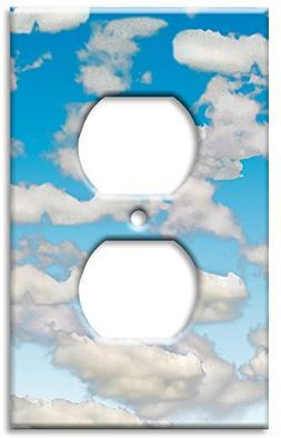 Art Plates - Clouds Switch Plate - Outlet Cover