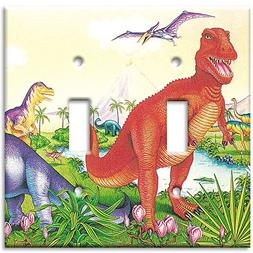 Art Plates - Dinosaurs Switch Plate - Double Toggle