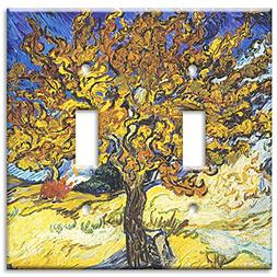 Art Plates - Van Gogh: Mulberry Tree Switch Plate - Double T