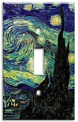 Art Plates - Van Gogh: Starry Night Switch Plate - Single To