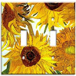 Art Plates - Van Gogh: Sunflowers Switch Plate - Double Togg