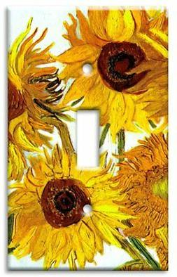 Art Plates - Van Gogh: Sunflowers Switch Plate - Single Togg