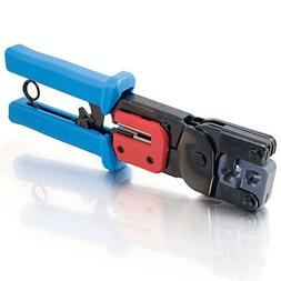 C2G 19579 RJ11/RJ45 Crimping Tool with Cable Stripper, TAA C