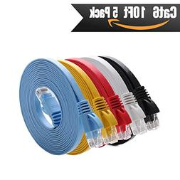 Cat 6 Ethernet Cable 10 ft   Cat6 Internet Network Cable Fla