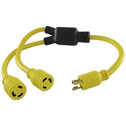 Conntek YL630L630 3FT Y 30 Amp Adapter Cord NEMA L6-30P to N