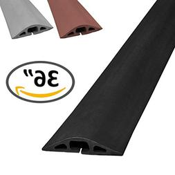 D-2 Rubber Duct Cord Cover - Length: 5FT - Color: Black Cabl