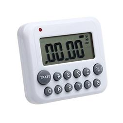 DZT1968® White LCD Digital 99 Minutes Kitchen Cooking Timer