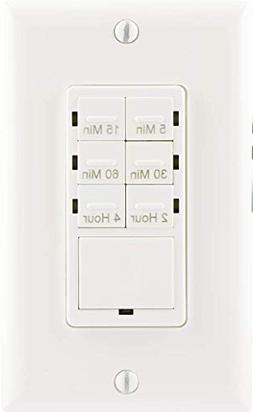 GE Push Button In-Wall Digital Countdown Timer Switch, 5-15-