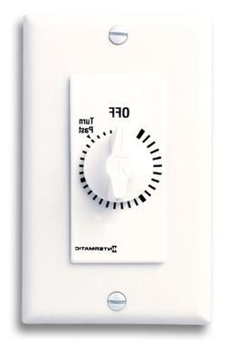 Intermatic FD6HHW 6-Hour Spring Loaded Wall Timer, White