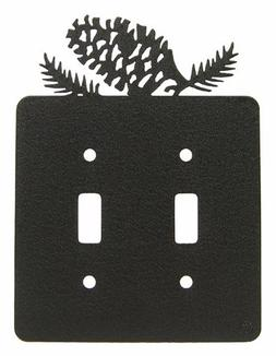 Pinecone Double Light Switch Plate Cover