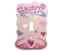 Pink Princess Single Light Switch Plate Cover Girls