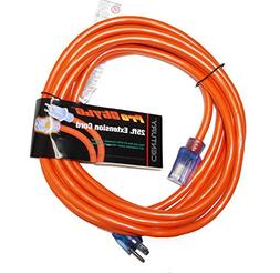 ProStyle 12 Gauge SJTW 3 Conductor 25 Foot Extension Cord Wi