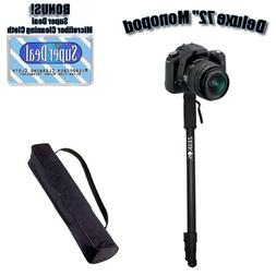 Professional 72 Inch Heavy Duty Monopod With Deluxe Soft Cas