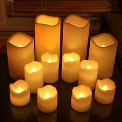 LampLust Indoor Outdoor Candles - Flameless LED Plastic Cand