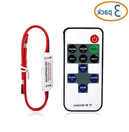 Simtyso  Mini LED Controller Dimmer with RF Wireless Remote