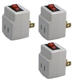 Single Port Power Adapter for Outlet with On/Off Switch to b