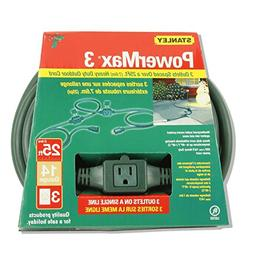 Stanley 51551 3-Outlet In-line Outdoor 14/3 Extension Cord,