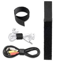 Theo&Cleo 20*150mm Black Wrap Cable Tie Wire Cord Straps Reu