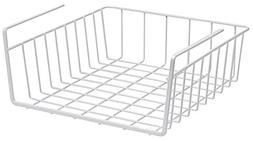 Under Shelf Basket Wire Rack, white - Easily slides under sh