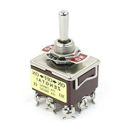 uxcell AC 380V 10A ON-OFF-ON 3 Positions 9 Pin Latching Togg