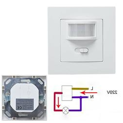 AC 110V-240V Infrared PIR Motion Sensor Recessed Wall Module