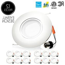 Parmida  6 inch LED Adjustable Gimbal Downlight, Dimmable, 1