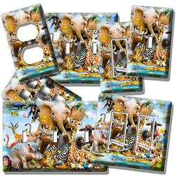 AFRICAN SAFARI ANIMALS LIGHT SWITCH WALL PLATE OUTLET BABY N