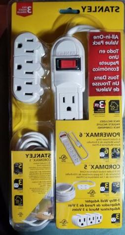 Stanley All In One Value Pack Power Strip, extension cord an