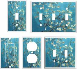 ALMOND BLOSSOMS VAN GOGH LIGHT SWITCH COVER PLATE  HOME DECO