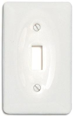 Amerelle 3020TW Classic Ceramic Toggle Wallplate, White by A
