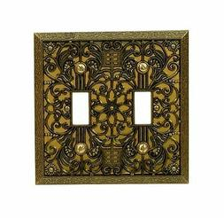 AmerTac 65TTAB Amerelle Filigree 2 Toggle Switch Wallplate,