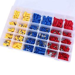 Fafada 480Pcs Assorted Insulated Electrical Wire Terminals C