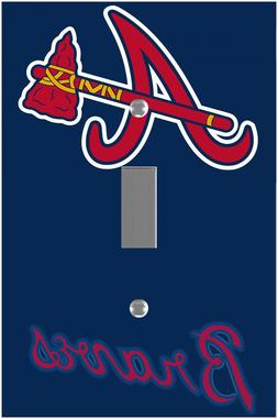 Atlanta Braves light switch cover room wall decor family gam