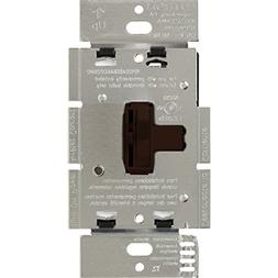 Lutron Dimmer Switch, 600W 1Pole Ariadni Toggle Dimmer Brown