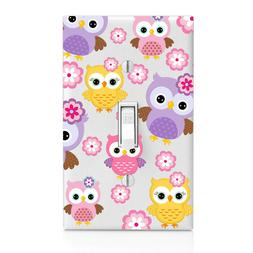 Baby Owl Pattern Switch Cover, Home Decor, Night Light, Cabi