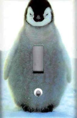BABY PENGUIN HOME WALL DECOR LIGHT SWITCH PLATE