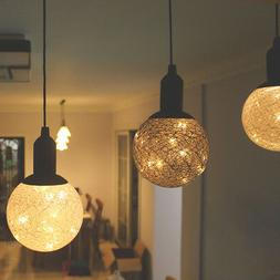 Ball Design Atmosphere LED Night Lights Pendant Lamp Pull Sw