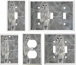 BARN OWL  #5 LIGHT SWITCH COVER PLATE OR OUTLETS U PICK PLAT