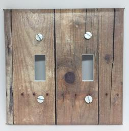 BARNWOOD PLANKS LIGHT SWITCH COVER PLATES WOOD LOOKING COUNT