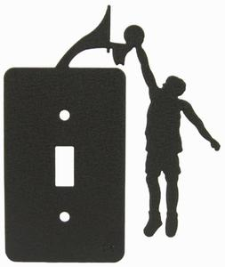 Basketball Boys Single Light Switch Plate Cover