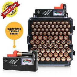 Battery Organizer 83 Slots AA/AAA + BATTERY TESTER for AAA,