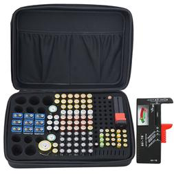 Battery Storage Organizer Tester Removable Case for AAA AA 9