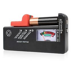 Battery Tester Checker Monitor for AAA, AA, C, D, 9V and Sma