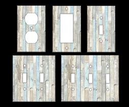 BEACH WOOD #2 Light Switch Covers Home Decor Outlet MULTIPLE