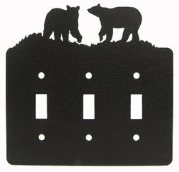 Bear Triple Light Switch Plate Cover
