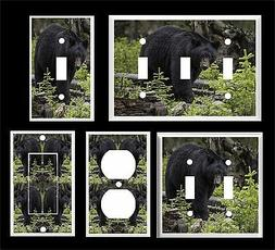 BLACK BEAR IN THE WOODS  # 3  LIGHT SWITCH COVER PLATE