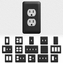 Black Metal Light Switch Wall Plate Outlet Cover Duplex Rock