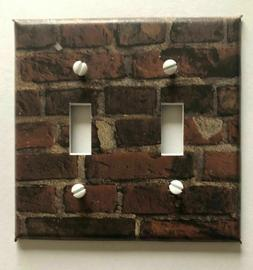 BRICKS LIGHT SWITCH COVER PLATE HOME WALL DECOR OUTLETS BROW